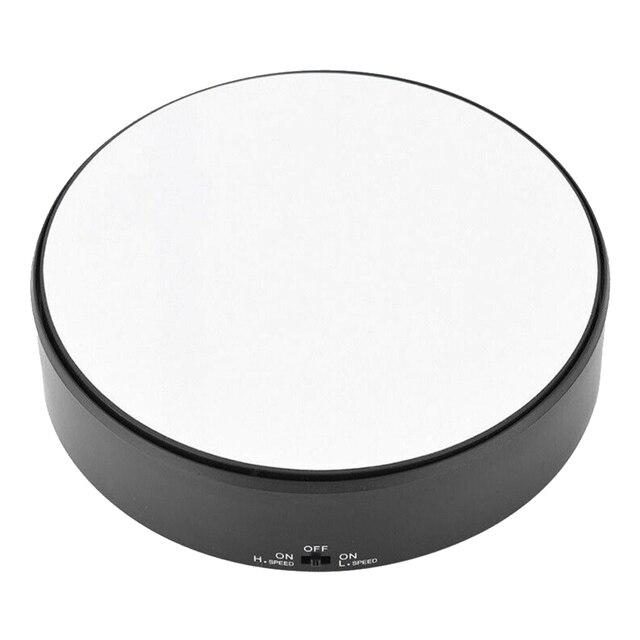 Rotierenden Langlebig Plattenspieler Professionelle Unterstützung Display Stand Art Spiegel Glas Spielzeug Modell Uhr 360 Schwenk Schmuck Halter Handwerk