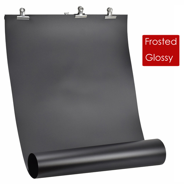 60x130 ซม.สีขาว/สีดำ PVC Anti Wrinkle Frosted / Glossy 2 in 1 ฉากหลังสำหรับ photo Studio การถ่ายภาพอุปกรณ์