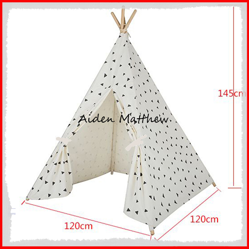 Eco Friendly Kids House Play Tent Cotton Canvas Tent Toy Tents eco friendly kids folding house tent canvas tent toy tents