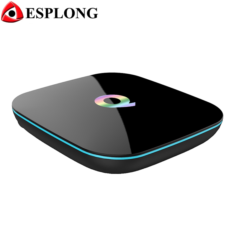 Q box Amlogic S905 Quad Core Android TV Box 2GB 16GB Wifi Bluetooth 4K Media Player Miracast DLNA Airplay Smart TV Box
