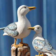 2Pcs Ornamenten Artistieke Mediterrane Stijl Tv Kast Vogel Decoratie Figurine Craft Voor Kantoor
