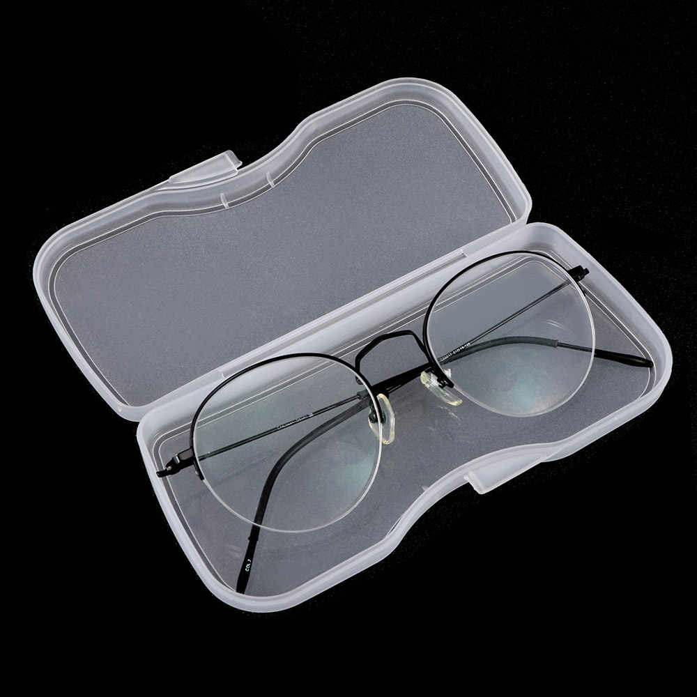 Transparent Matte White Myopia Polarized Sunglasses Clip Hard Box Eyewear Accessories Glasses Case Portable Durable PVC Plastic