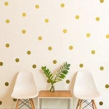 ФОТО 5 Vinyl Polka Dot Wall Sticker Wall Art Decor Nordic Style Kids Decoration Stickers Wallpaper Sticker for Living Room Home
