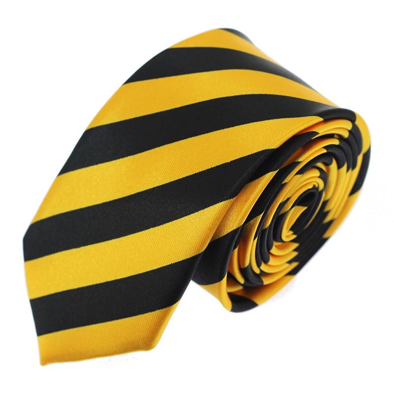 Yellow Black 5CM Ties For Men Fashion Casual Neck Tie Gravatas Business Mens Neckties Corbatas Width Groom Ties For Party