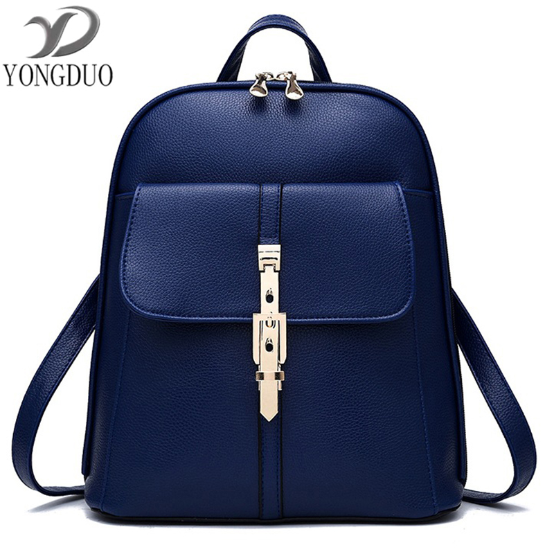 Black Backpack Women PU Leather Backpack School Bags Lady Fashion Travel Shoulder Bag Designer backpacks for