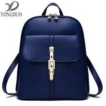 Черный рюкзак Дамские туфли из PU искусственной кожи рюкзак Школьные сумки модная Женская дорожная сумка дизайнерские рюкзаки для девочек-подростков