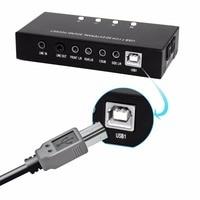 Professional Black USB Optical Fiber Sound Card 7.1 Sound Track Audio Playback Recording PC Audio Card HI FI Audio Adapter