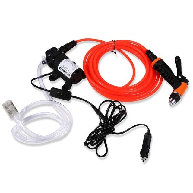 Oversea Car Washer Cleaning Machine Water Pump Trigger Spray Gun Washing Kit Set 12V 80W 130PSI High Pressure Electric