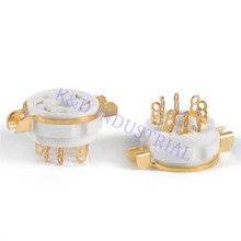 2pcs 8pin Octal Gold Plate Ceramic Tube Socket 6SN7 KT66 KT88 EL34 5U4G 6CA7 6550 Guitar Amp parts цена и фото