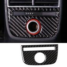 Для Audi A3 S3 2014-2018 Настоящее углеродного волокна изменение интерьер заднего сиденья легкие панели декоративные аксессуары наклейки