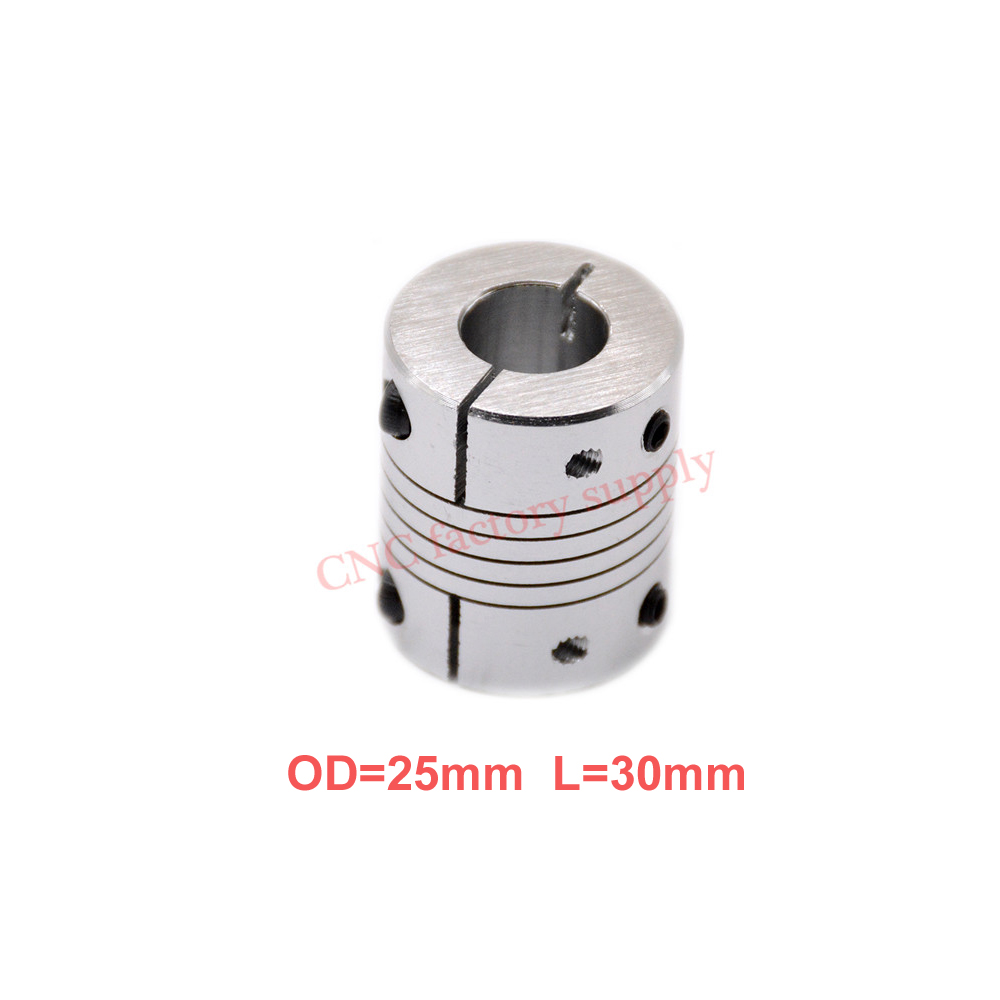 Hot 1pc D25L30 CNC Motor Jaw Shaft Coupler clamp Flexible Coupling OD 25x30mm wholesale Dropshipping 5mm 6mm 6.35mm 8mm 10mm12mm цена