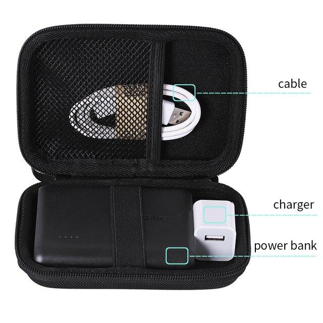 Nueva funda de viaje para cargador portátil Anker PowerCore 13000-compacto 13000 mAh 2 puertos cargador de teléfono Ultra portátil banco de la energía