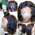 8A Brasileño de la Virgen Llena Del Cordón Pelucas de Cabello Humano Para la Mujer Negro Onda de Agua del pelo Sin Cola Del Frente Del Cordón Pelucas de Pelo Humano Con El Bebé pelo