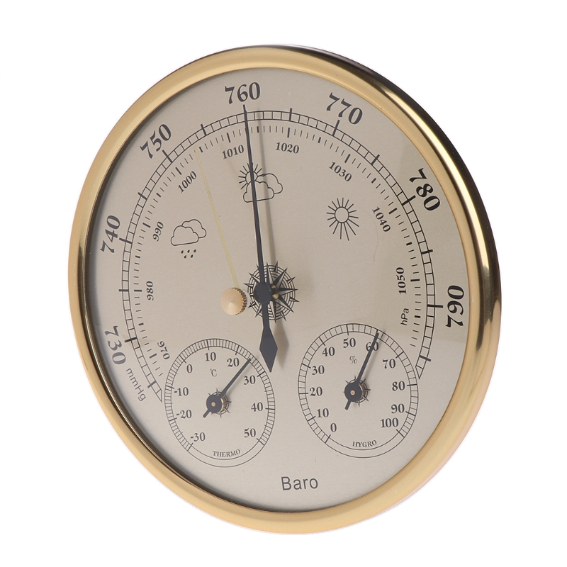 High Quality Wall Mounted Household Barometer Thermometer Hygrometer Weather Station Hanging