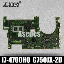 Asepcs G750JX материнская плата для ноутбука G750JW REV2.1 материнская плата с i7 4700HQ процессор G750JX материнская плата GTX770M/3 ГБ