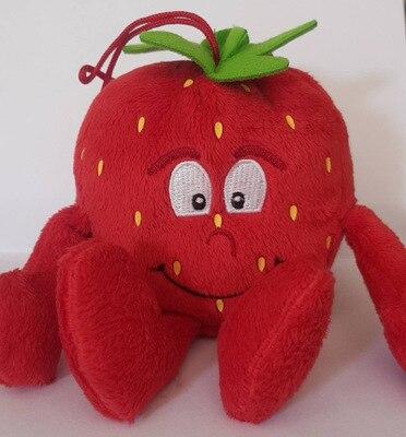 Детские мягкие игрушки детские развивающие игрушки красочные фрукты овощи 10-35 см Рождественский подарок - Цвет: Mini strawberry