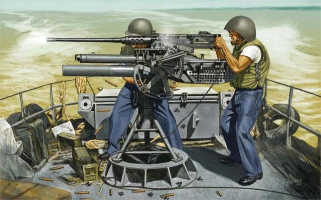 art soldiers marine infantry USA leads shot fire from machine gun M2     art soldiers marine infantry USA leads shot fire from machine gun M2  Browning machine 4 Sizes