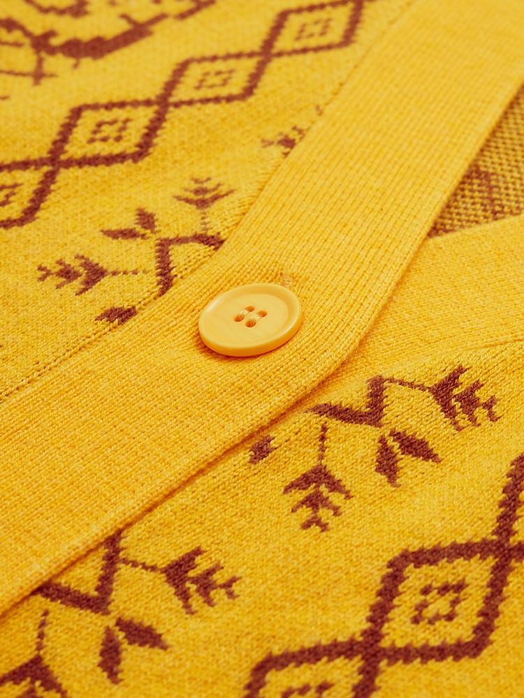 Surdimensionné Printemps camel Hiver jaune Cardigans Lâche Nouvelle Conception Lynette's Originale Vert Perles Mori Coton Femmes Chinoiserie Ultra Filles Chandails BPqwx5HR