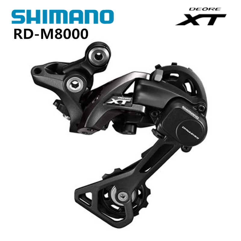 Shimano DEORE XT RD M8000 Rear Derailleurs Mountain Bike M8000 GS SGS MTB / Long & Middle Cage 11S Speed Shadow+ Locking Button цена