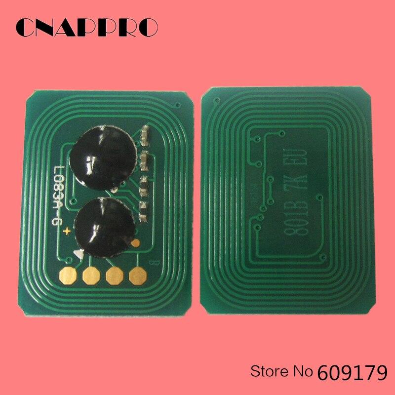 44318604 43866104 44318603 43866103 44318602 Printer Toner Reset Chip For OKI data C 711 Okidata C710