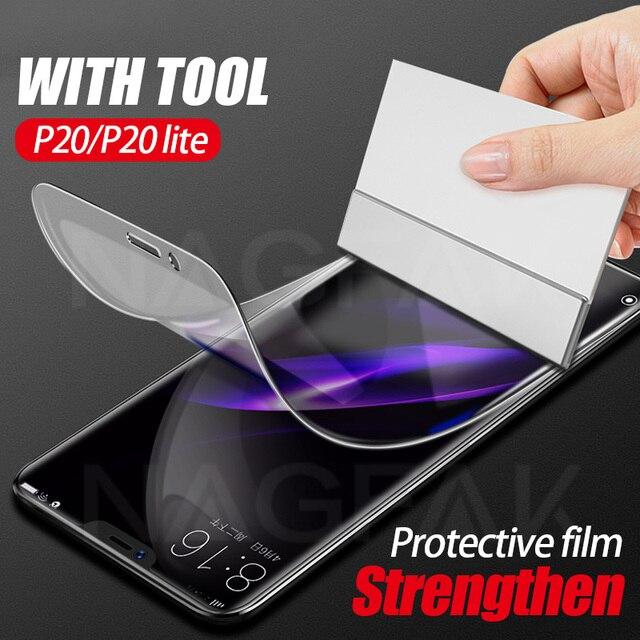 3D Full Hidrogel Macia Protetora Film Para Huawei P20 P20 Lite Pro Filme Protetor de Tela capa Filme Honra 9 Lite 8 V10 Não Vidro