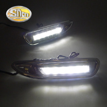 For Mazda 6 Mazda6 2008 2009 2010,With Chromed ABS Cover Car DRL Waterproof ABS DC 12V LED Daytime Running Light Daylight SNCN