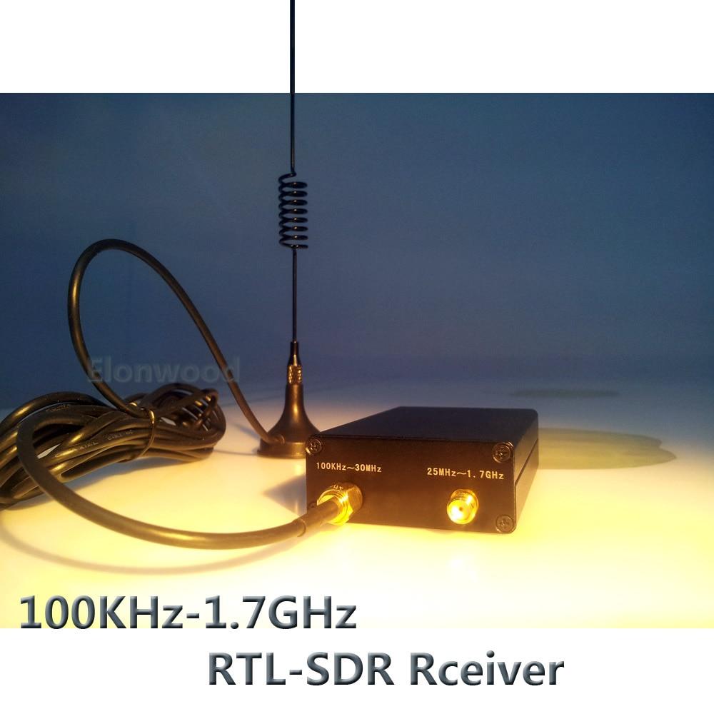 Ham Radio Receiver 100KHz-1.7GHz full Band UV HF RTL-SDR USB Tuner Receiver R820T+8232 Ham Radio Software Defined Radio RTL SDR 2018 new 10 watt hf sdr transceiver rx 1 8 30mhz tx all ham hf bands full modes ssb j3e cw am rx only sam fm free dv