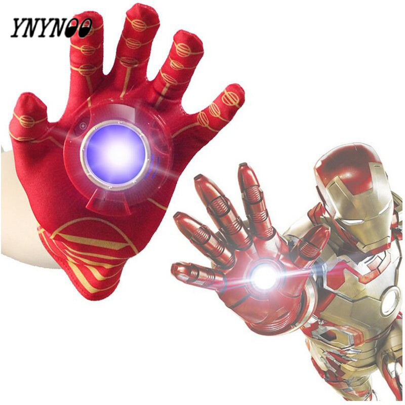 YNYNOO New Iron Man Toys Anime The Avengers Ironman Glove Emitter Sound Light Action Figures Creative Toys Chirstmas Gift OT078 12pcs set children kids toys gift mini figures toys little pet animal cat dog lps action figures