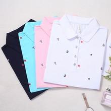 Ruoru  New Plus Size M – 4XL Polo Shirt Women Blue Polo Shirt