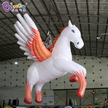 Customized 2.8 meters tall inflatable pegasus / large inflatable pegasus / airblown pegasus for decoration toys фото