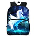 Special Offer Fashion Oxford 12-Inch Prints Mythical Animals Kids Babys School Bags Cool Horse Children Small Backpacks Students