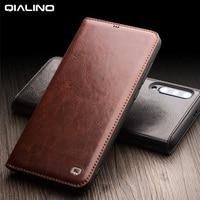 100% Genuine Leather Case For Xiaomi Mi 9 Case 100% Cowhide Flip Leather Case For Xiaomi Mi9 Mi 9 Transparent Edition Cover
