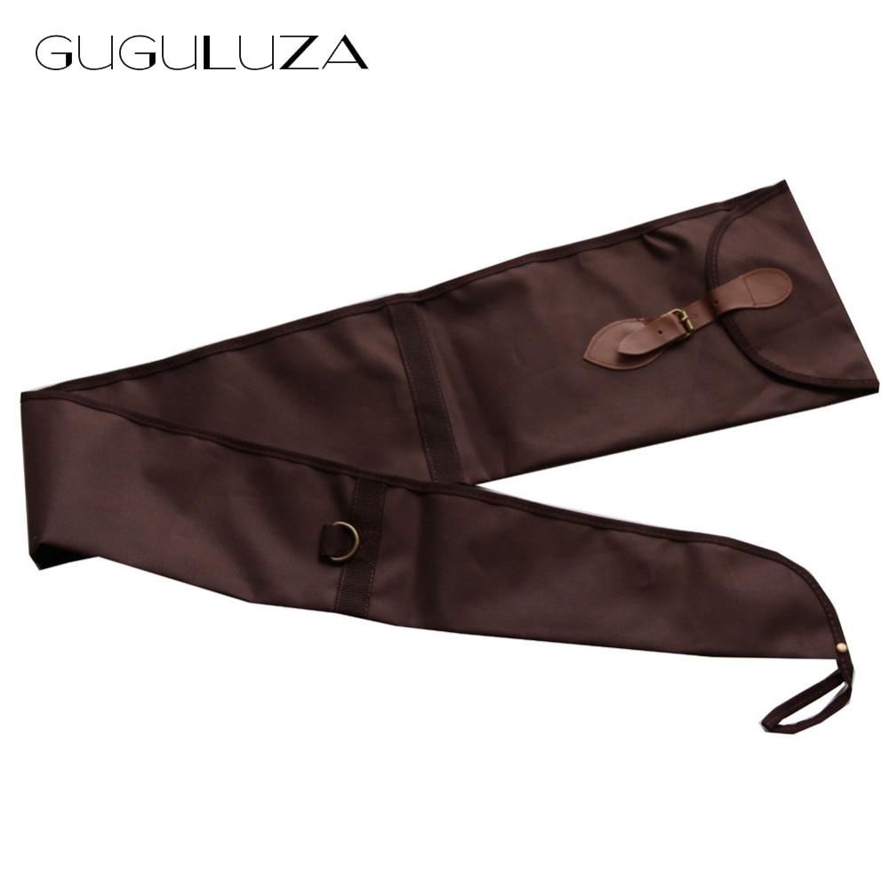 GUGULUZA Long Gun Rifle Sleeve Sock Durable Lightweight Lined Case Cover Purple Brown 53