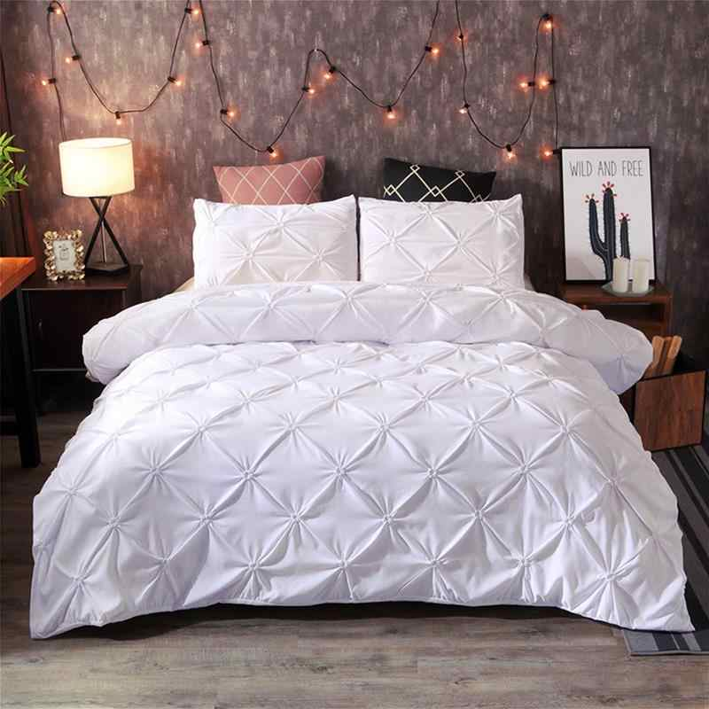 Luxury Comforter Bedding Sets Queen King Duvet Cover Sets White Black Quilt Cover Sets JI01#