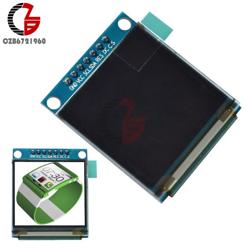 1.5 inch 7PIN Full Color OLED Module Display Screen SSD1351 Drive IC 128(RGB)*128 SPI Interface for 51 STM32 1 5 128 x 128 color lcd module expansion board black white