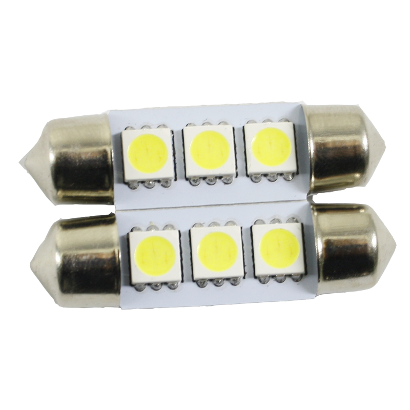 HONDA 39MM 5050 3 SMD LED Festoon Dome Car Auto Light Interior Lamp Bulb