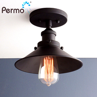 PERMO Industrial Sconce Wall Lights Vintage Metal Wall Lamps Steampunk E27 Luminaire New Year Christmas Decorations For Home