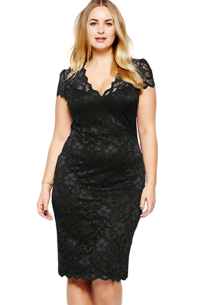 Women <font><b>Vestidos</b></font> Celebrity Lace Dress Summer Package Hip V-neck <font><b>Bodycon</b></font> Midi Dress Femme Casual Slim <font><b>Sexy</b></font> <font><b>Vestido</b></font> <font><b>De</b></font> <font><b>Renda</b></font> E6415 image