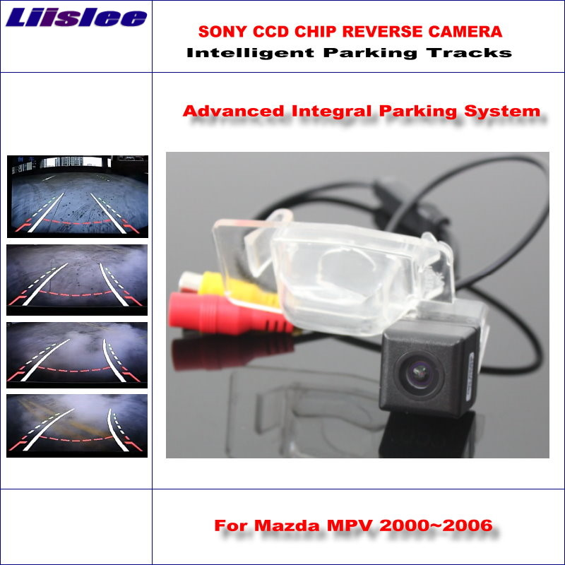 Liislee Intelligent Parking Tracks Car Rear Camera For Mazda MPV 2000~2006 Backup Reverse / NTSC RCA AUX HD SONY 580 TV Lines