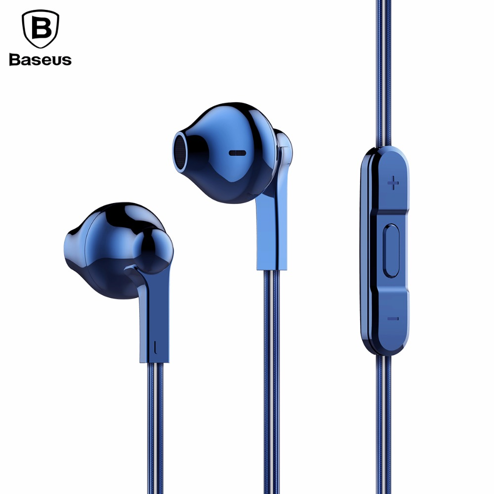 Baseus Universal In-Ear Wired Earphone Headphone Stereo Hifi In-line Headset With Mic For iPhone Xiaomi Fone De Ouvido Kulakl K original xiaomi xiomi mi hybrid earphone 1more design in ear multi unit piston headset hifi for smart mobile phone fon de ouvido