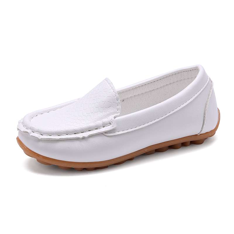 2016 autumn male female child baby solid color soft leather single shoes slip-resistant outsole boys girls child casusl shoes