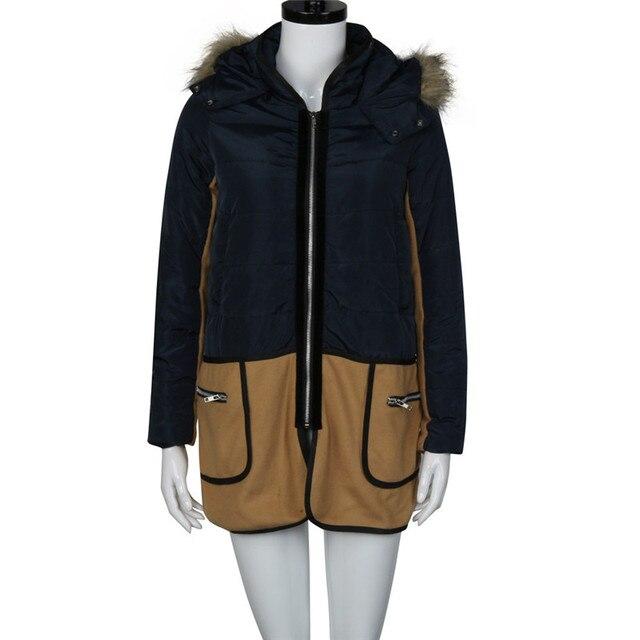 Fashion Coat Women Warm Winter Faux Fur Hooded Female Parka Thicken Overcoat Women Jacket Outwear Top Quality  Coat Mujer N9