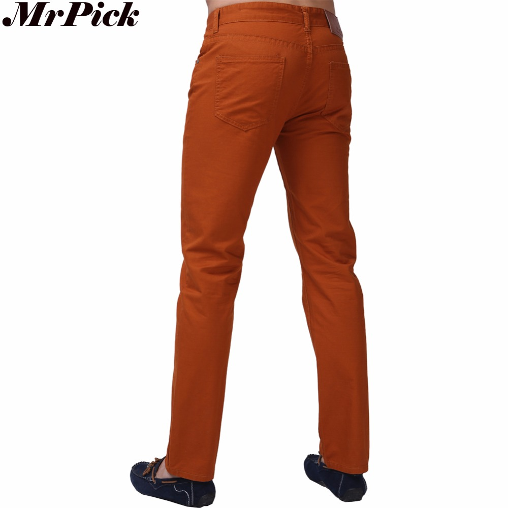 2015 nieuwe mannen jeans snoep kleuren effen slim fit rits masculina - Herenkleding