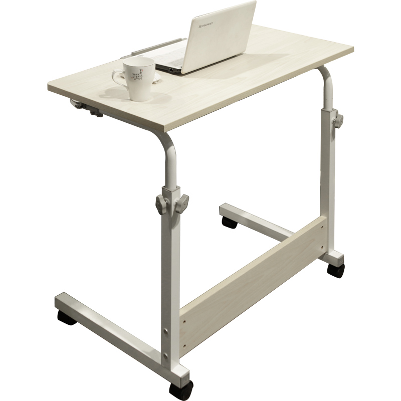 Simple Foldable Multifunction Desk Household Moveable Computer Table Lifted Bedside Desktop Tiltable with Wheel Convenient Desk