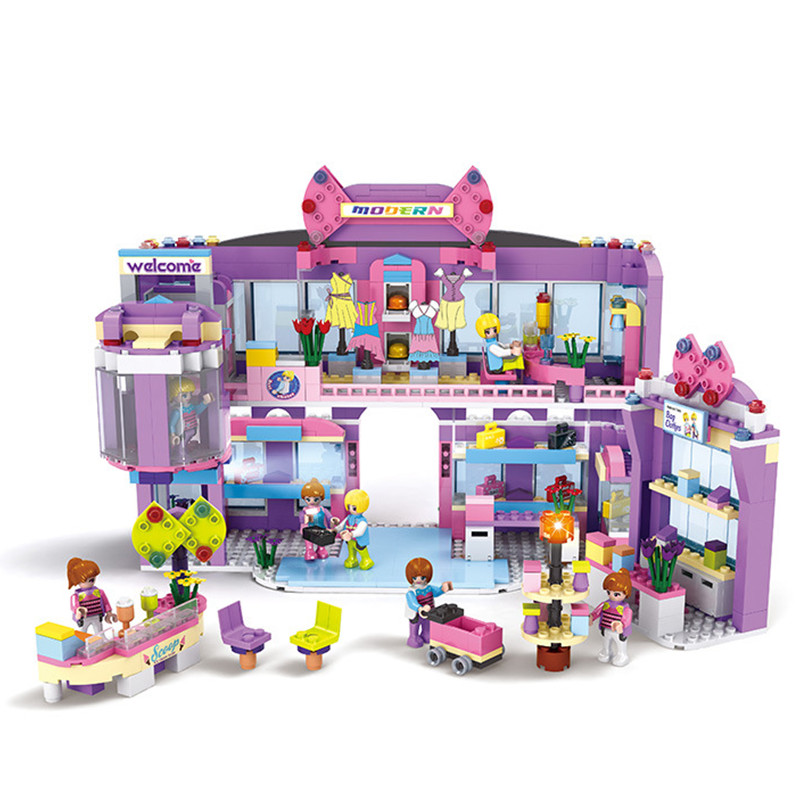 810pcs Girls Dream Mall Supermarket Legoings Building Blocks Kit ToysDream Mall Supermarket Legoings Friends Toys urvoi deployment buckle band for apple watch series 3 2 1 strap for iwatch belt single tour for hermes watch band swift leather