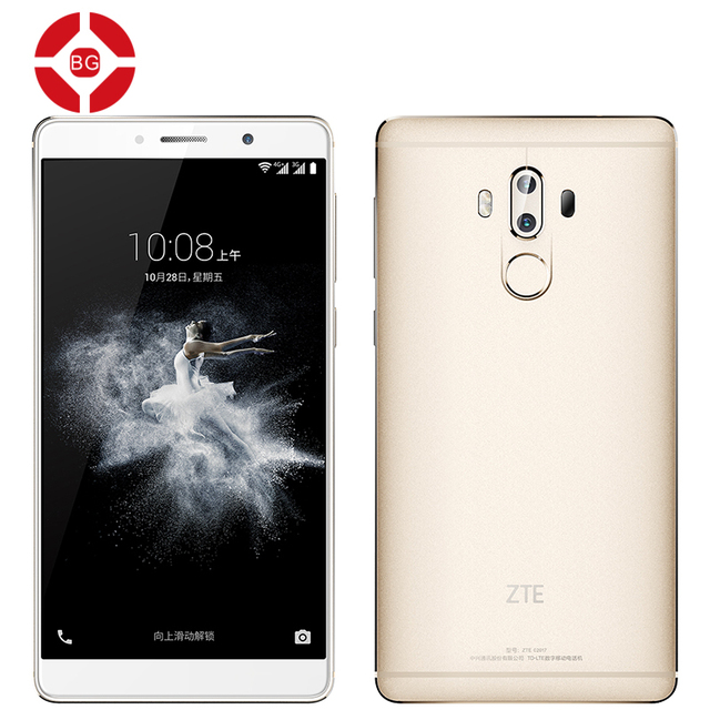 "BG Original ZTE Axon 7 Max Hi-Fi Snapdragon 625 Android 6.0 Octa Core 6.0"" 1920X1080 Mobile Phone 4GB RAM 64 ROM Fingerprint"