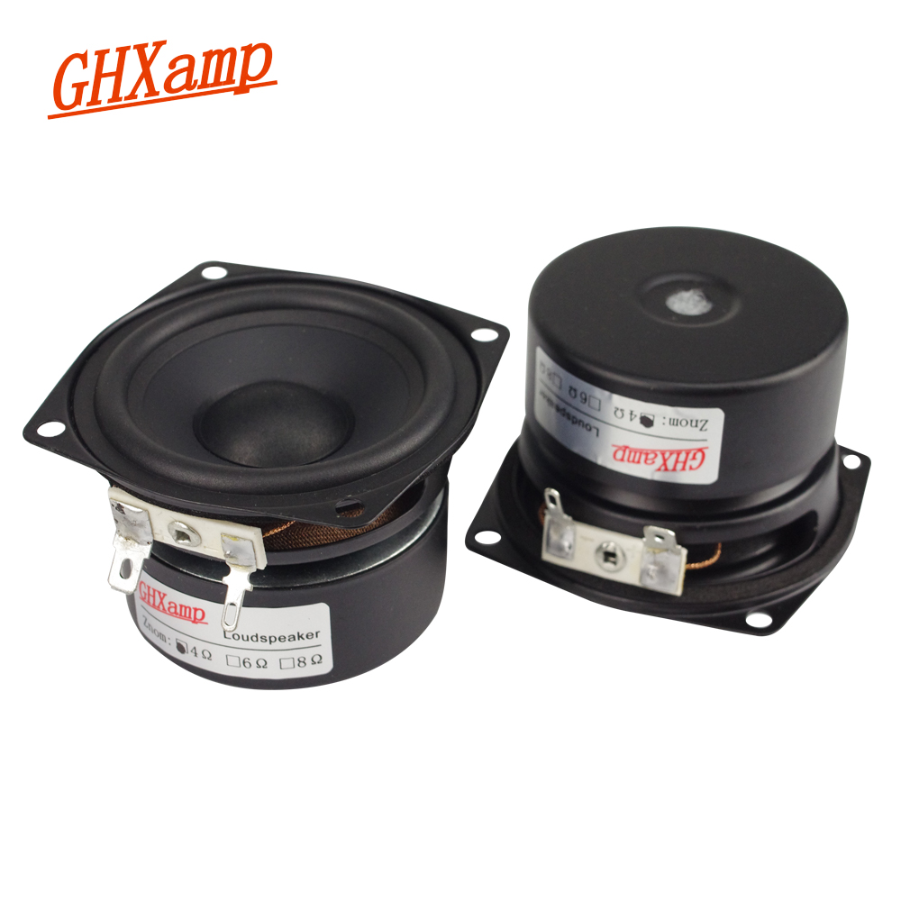 US $19 91 21% OFF|Ghxamp 2 5 Inch Full Range Speaker 4ohm 10W Damping Pape  Cone DIY Portable Bluetooth Speaker Unit Computer Desktop Soundbox 2PCS-in