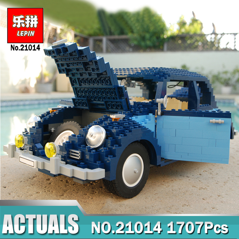 1707Pcs New Lepin 21014 Classic Beetle Car Model LegoINGlys 10187 Building Kits Blocks Bricks for Children Christmas gifts 1707pcs new lepin 21014 classic beetle model car building kits blocks bricks for children christmas gifts legoinglys 10187
