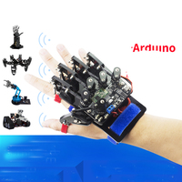 Open Source Somatosensory Glove Wearable Mechanical Finger Exoskeleton Bluetooth Control Robot Clamp Claw For Arduino DIY RC Toy