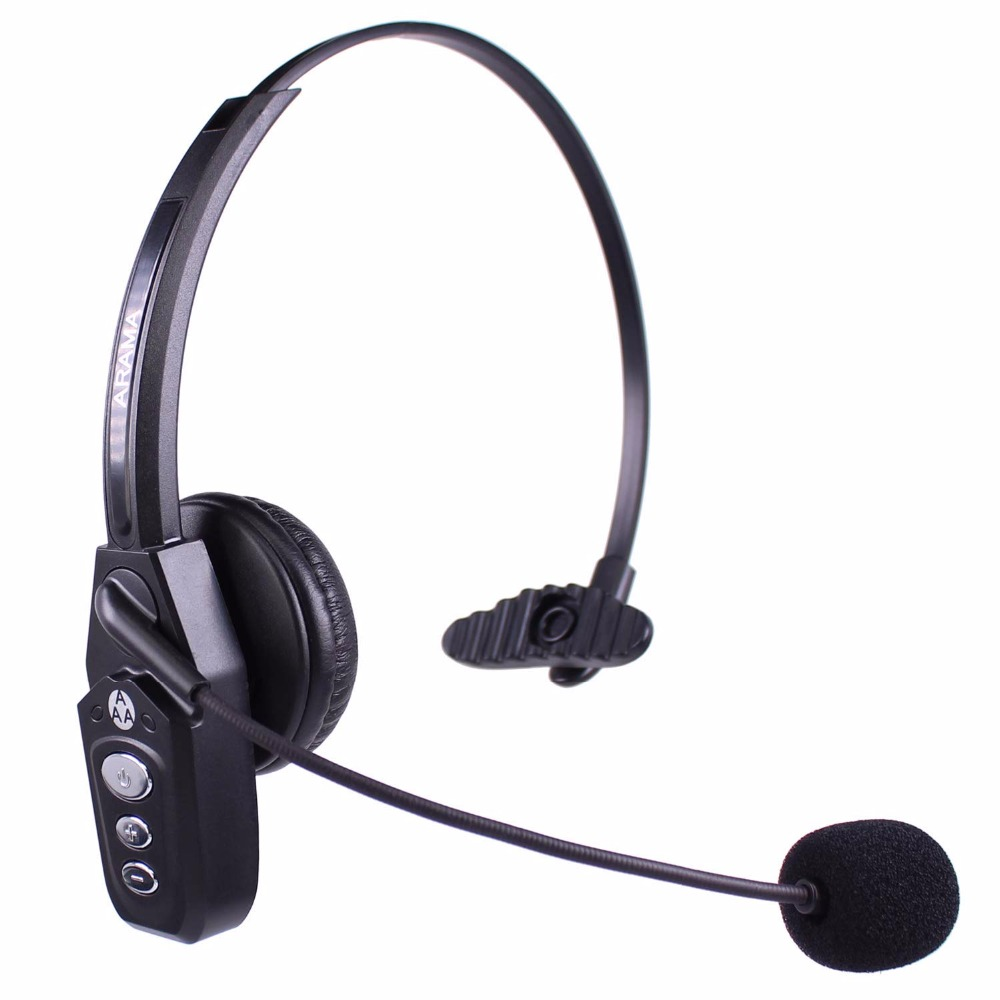Wantek Arama JBT800 Bluetooth Headphones with Microphone Office Wireless Headset Over Head Earpiece for Cell Phone Call Center